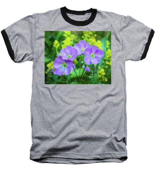 Wild Geranium Family Portrait Baseball T-Shirt