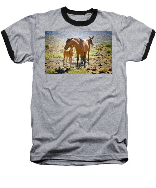 Wild Horse Family Baseball T-Shirt