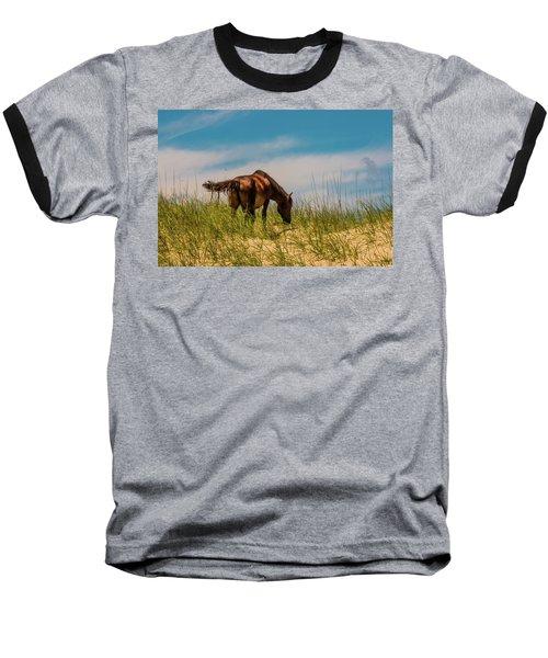 Wild Horse And Dragon Flies Baseball T-Shirt