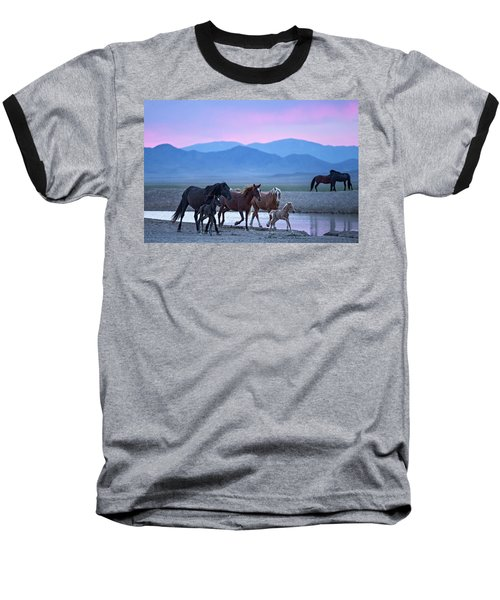 Wild Horse Sunrise Baseball T-Shirt