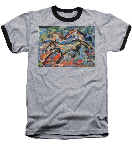Wild Horses Baseball T-Shirt by Ellen Anthony