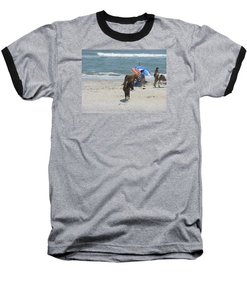 Baseball T-Shirt featuring the photograph Wild Horses by Helen Haw