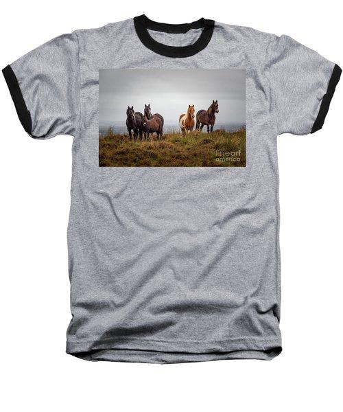 Wild Horses In Ireland Baseball T-Shirt