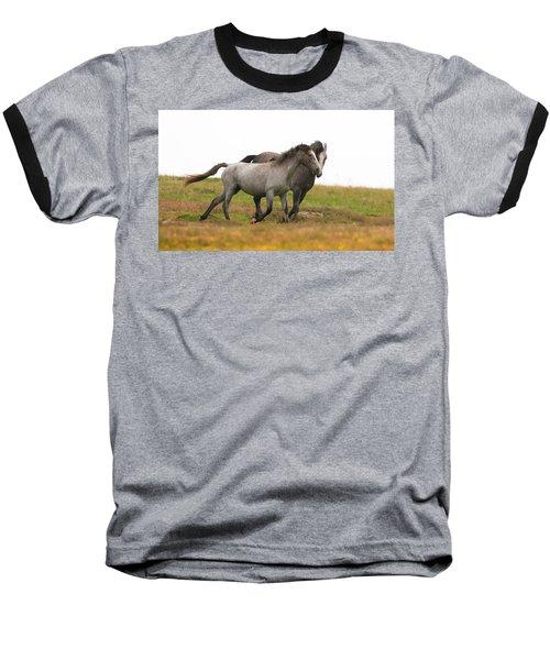 Wild Horses Baseball T-Shirt by Kelly Marquardt