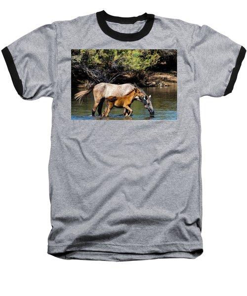Wild Horses On The Salt River Baseball T-Shirt