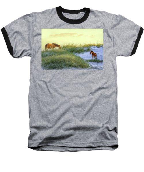 Wild Horses Baseball T-Shirt