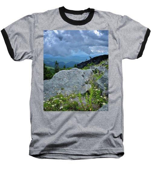Wild Mountain Flowers Baseball T-Shirt by Steve Hurt