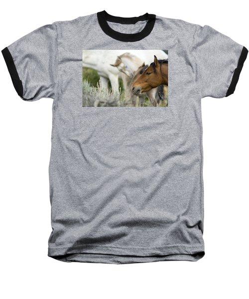 Wild Mustang Horses Baseball T-Shirt