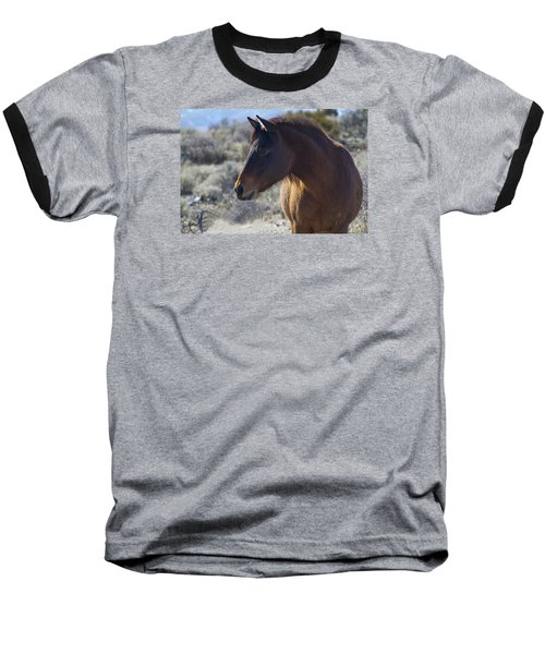 Wild Mustang Mare Baseball T-Shirt