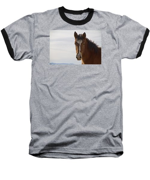 Wild Mustang Yearling Baseball T-Shirt