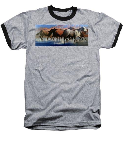 Wild Mustangs Of The Verder River Baseball T-Shirt