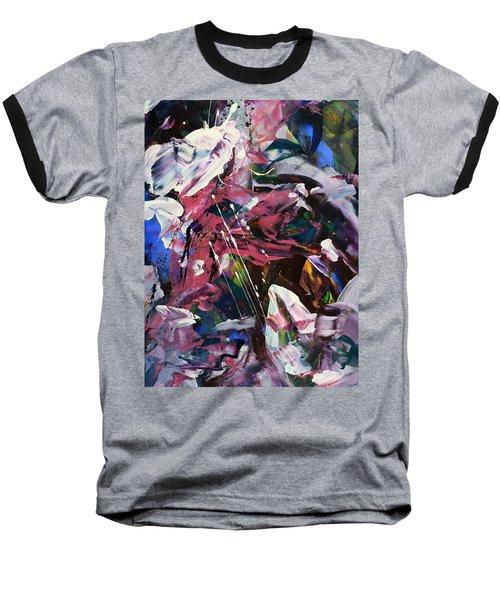 Wild Orchid Abstract Baseball T-Shirt by Erika Pochybova