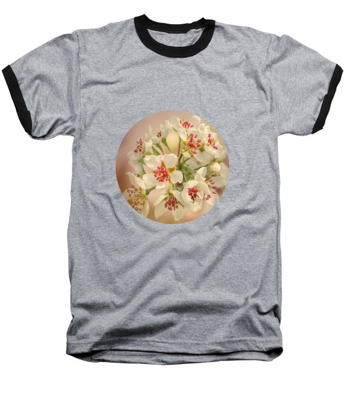 Wild Pear Blossom Baseball T-Shirt
