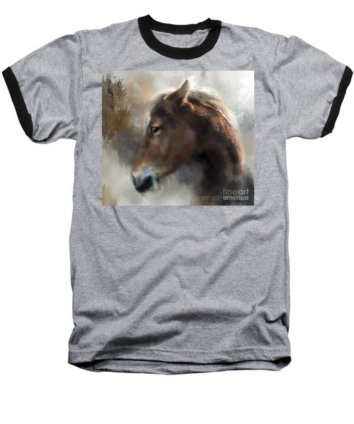 Wild Pony Baseball T-Shirt by Kathy Russell