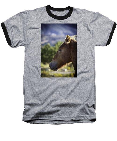 Wild Profile Baseball T-Shirt by Elizabeth Eldridge