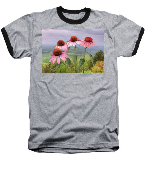 Wild Purple Coneflowers Baseball T-Shirt