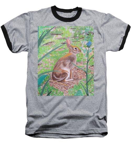 Wild Rabbit Baseball T-Shirt by Hilda and Jose Garrancho