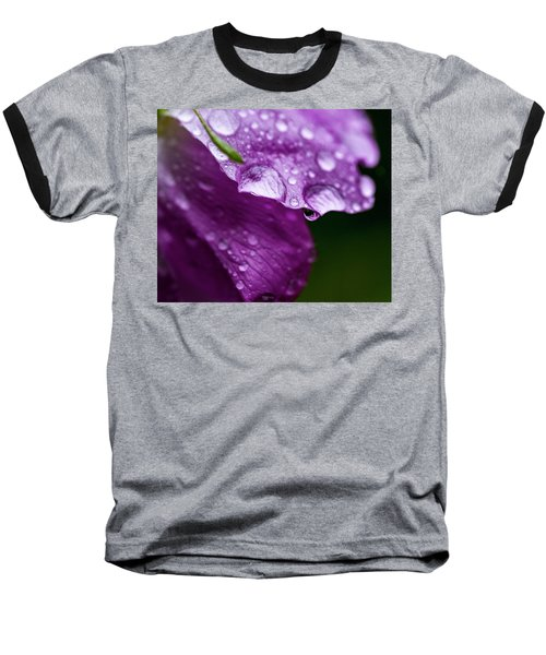 Baseball T-Shirt featuring the photograph Wild Rose Droplet by Darcy Michaelchuk