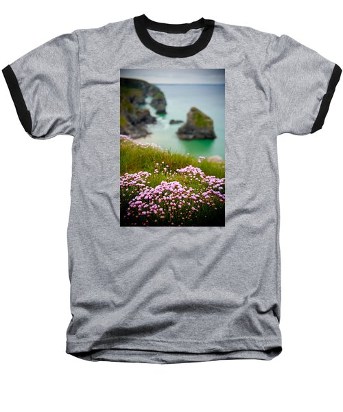 Wild Sea Pinks In Cornwall Baseball T-Shirt