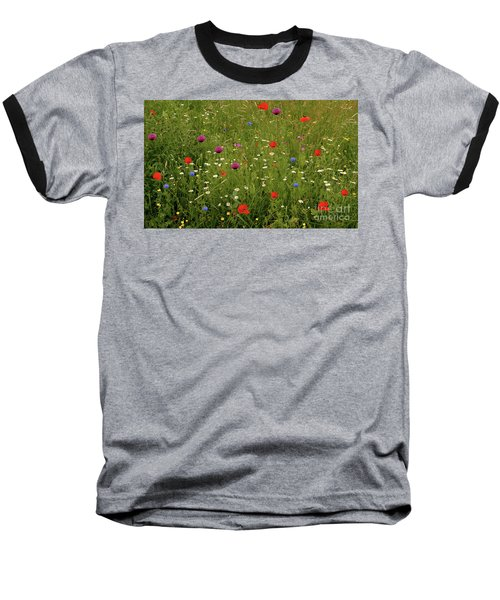 Wild Summer Meadow Baseball T-Shirt by Baggieoldboy