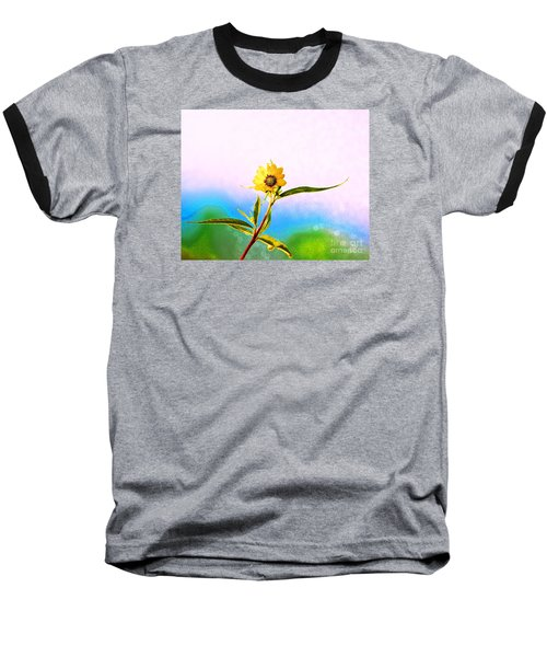 Baseball T-Shirt featuring the photograph Wild Sunflower by Lila Fisher-Wenzel