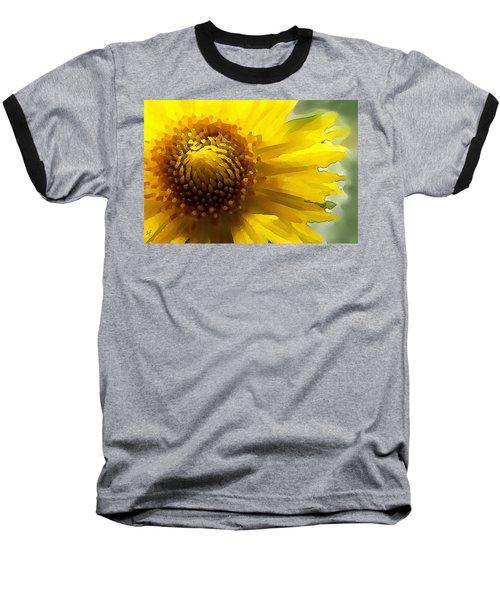 Baseball T-Shirt featuring the digital art Wild Sunflower Up Close by Shelli Fitzpatrick