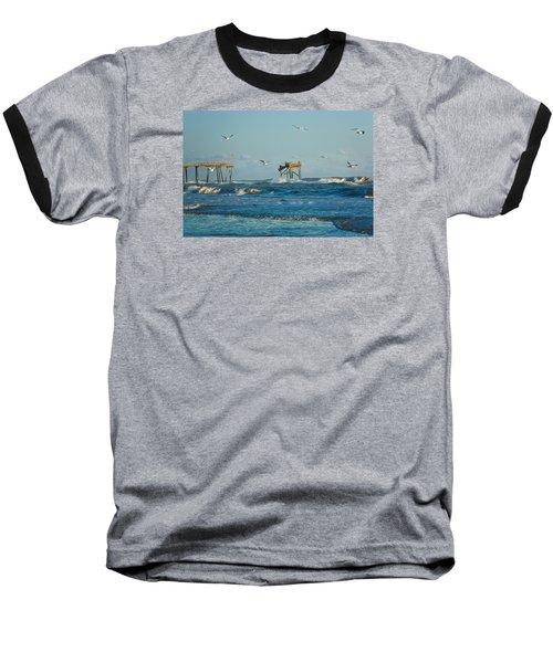 Wild Waves At Nags Head Baseball T-Shirt