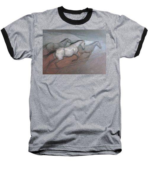 Wild White Horses Baseball T-Shirt