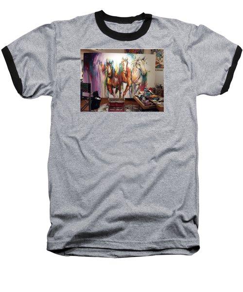 Wild Wild Horses Baseball T-Shirt