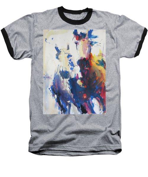 Wild Wild Horses Baseball T-Shirt by Robert Joyner