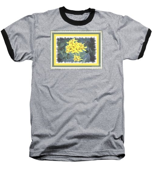 Baseball T-Shirt featuring the photograph Wild Yellow Weed by Shirley Moravec