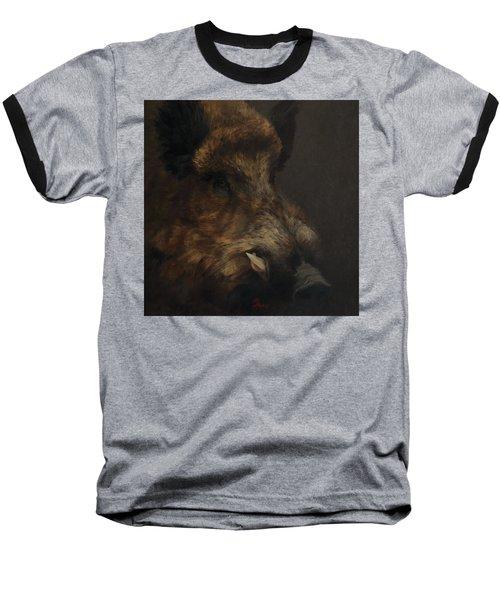 Wildboar Portrait Baseball T-Shirt