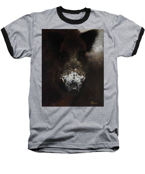 Wildboar With Snowy Snout Baseball T-Shirt