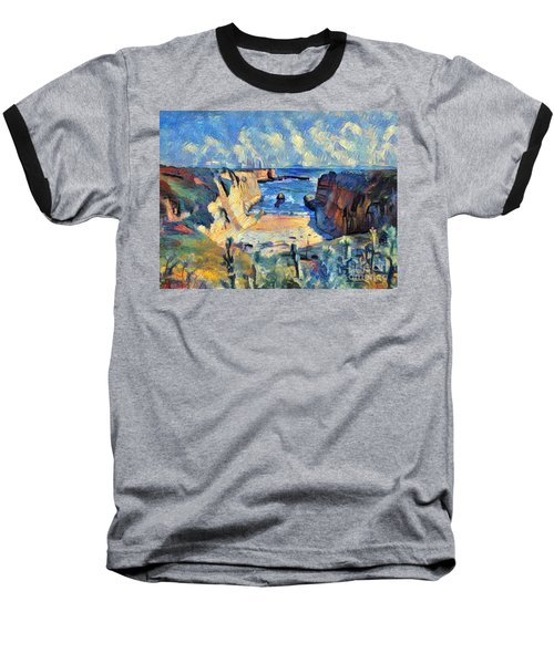 Baseball T-Shirt featuring the painting Wilder Ranch Trail by Denise Deiloh