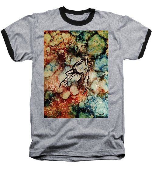 Baseball T-Shirt featuring the painting Wilderness Warrior by Denise Tomasura