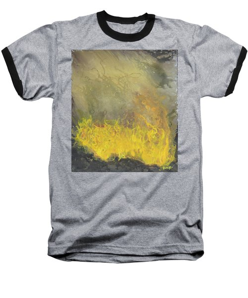 Baseball T-Shirt featuring the painting Wildfire by Antonio Romero