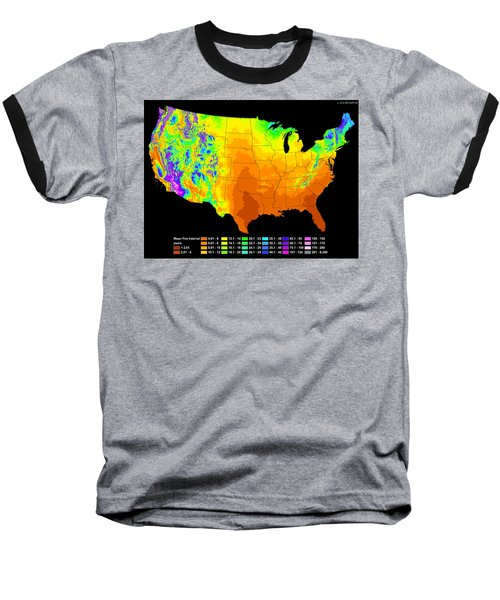 Wildfire Frequency Baseball T-Shirt