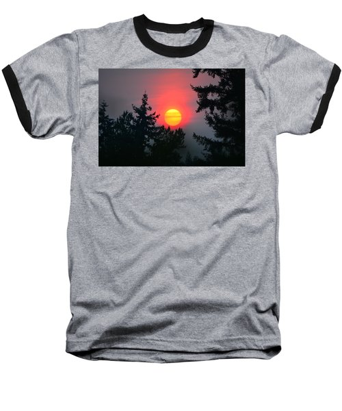 Wildfire Sunset Baseball T-Shirt