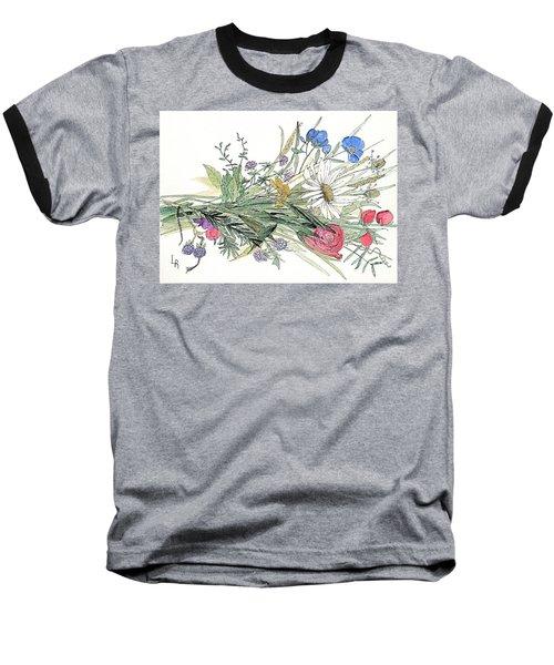 Wildflower Bouquet Baseball T-Shirt