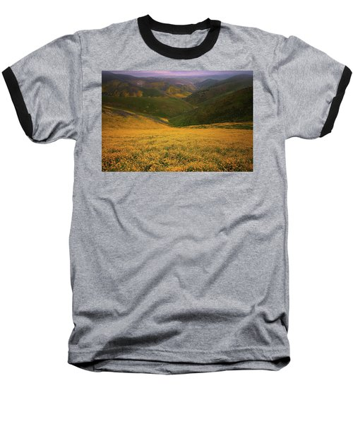 Wildflower Field Up In The Temblor Range At Carrizo Plain National Monument Baseball T-Shirt