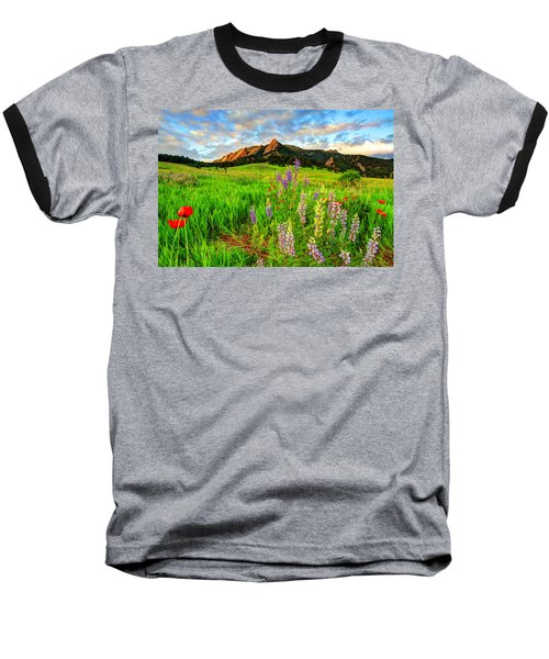 Wildflower Mix Baseball T-Shirt