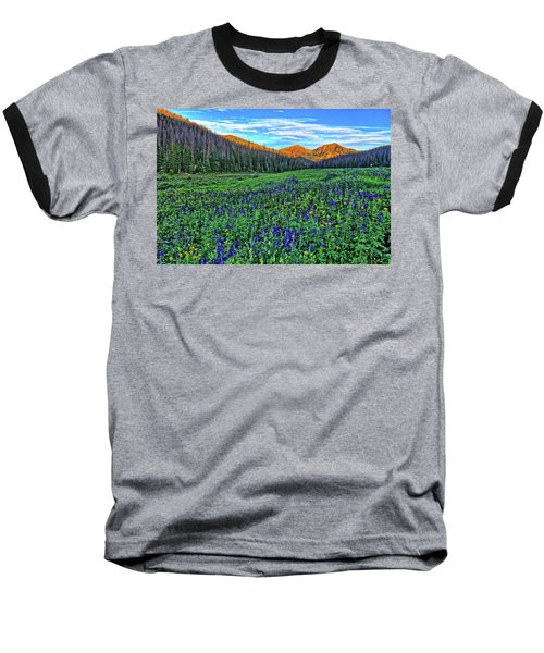 Baseball T-Shirt featuring the photograph Wildflower Park by Scott Mahon