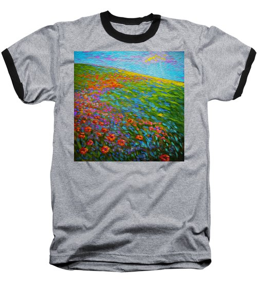 Wildflower Pastoral Baseball T-Shirt