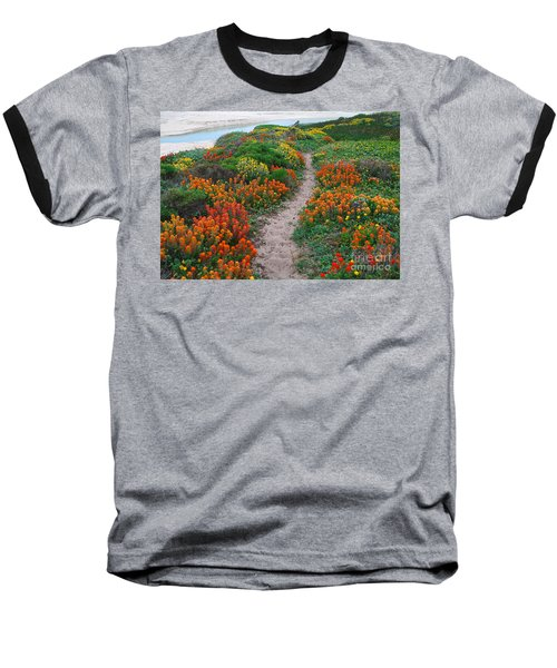 Wildflower Path At Ribera Beach Baseball T-Shirt