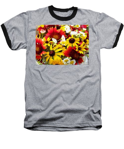 Wildflower Riot Baseball T-Shirt