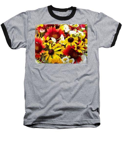 Wildflower Riot Baseball T-Shirt
