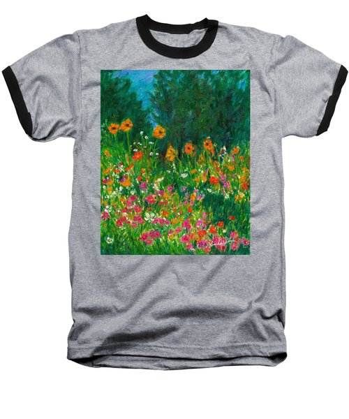 Wildflower Rush Baseball T-Shirt by Kendall Kessler