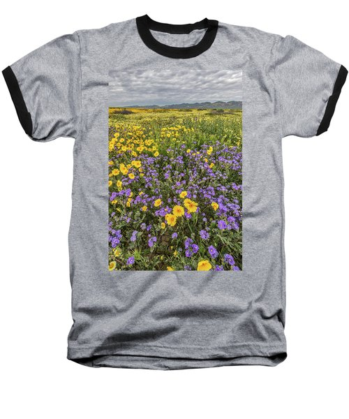 Baseball T-Shirt featuring the photograph Wildflower Super Bloom by Peter Tellone