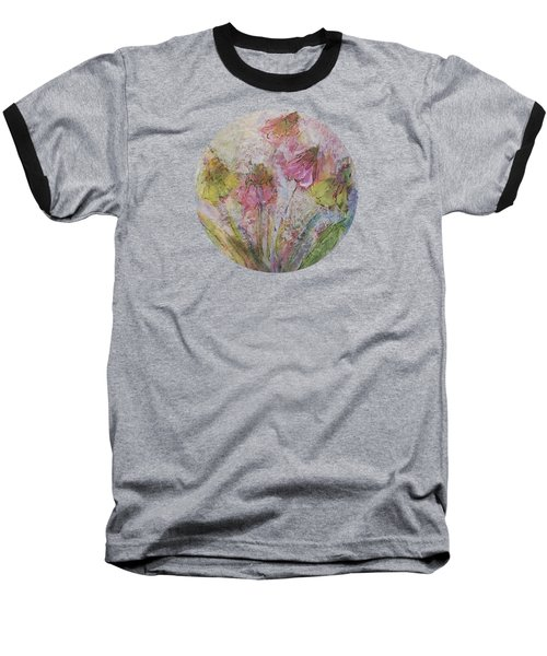 Baseball T-Shirt featuring the painting Wildflowers 2 by Mary Wolf