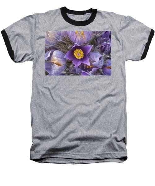 Wildflowers At The Delta Junction Bison Range Baseball T-Shirt